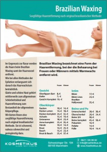 Flyer Brazilian Waxing