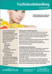 Flyer Fruchtsaeurebehandlung
